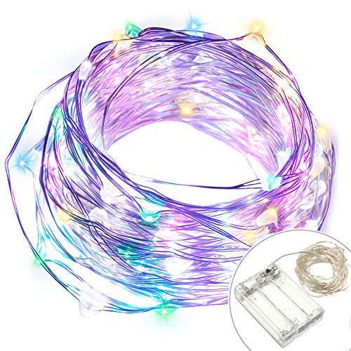 EAGWELL String Lights Battery Operated 33 Feet String Lights Indoor 100 LED Fairy Lights Battery Operated String Lights for Bedroom Garden Party Christmas Colorful