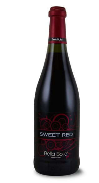 Sweet Red Bella Bolle is deliciously sweet with flavors of ripe cherries and raspberries....has some fizz to it.