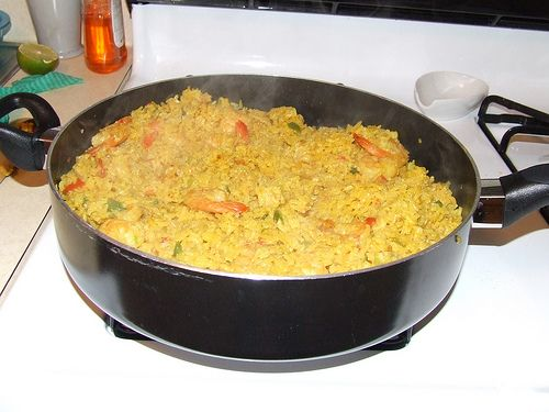 Costa Rican Rice with Shrimp Recipe :: Receta de Arroz con Camarones