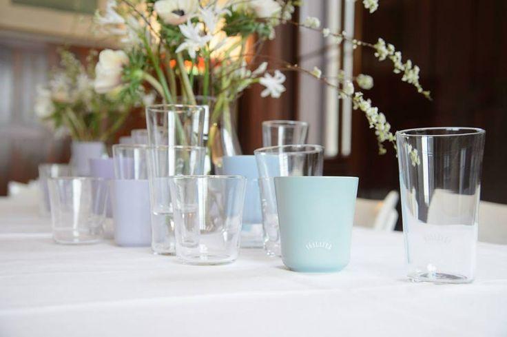 Wunderschöne Design Gläser on Vöslauer <3 We Love!