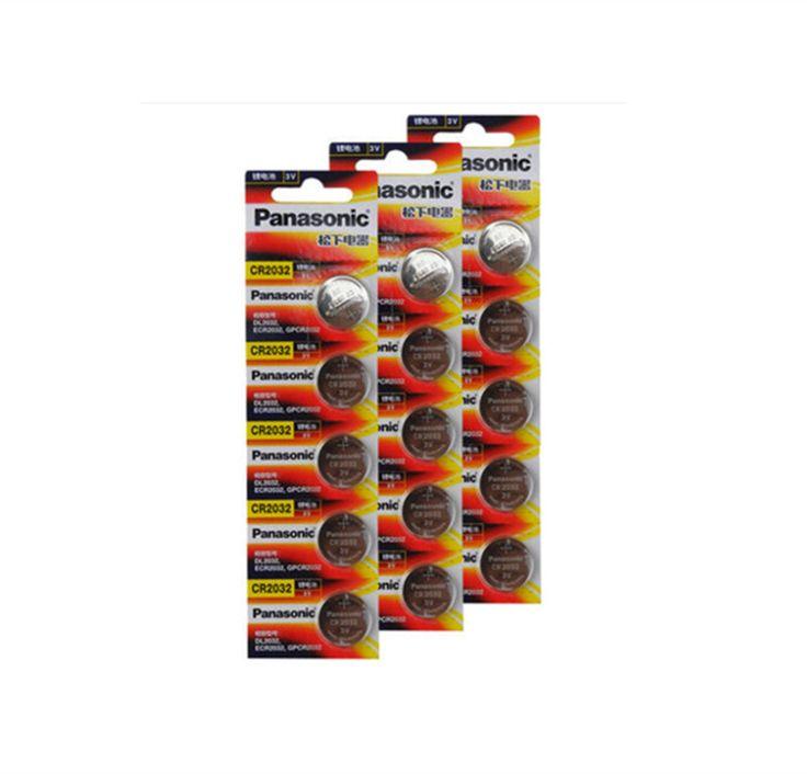15 X original marca nova bateria para PANASONIC cr2032 3 v botão de célula tipo moeda baterias para assista computer cr 2032