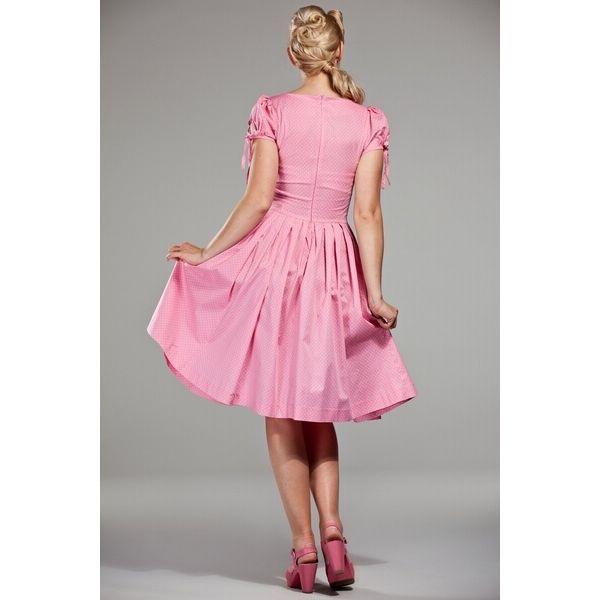 Delizioso e divertente abito rosa, con corpetto aderente e gonna a ruota intera, perfetta per ballare ad ogni festa estiva!