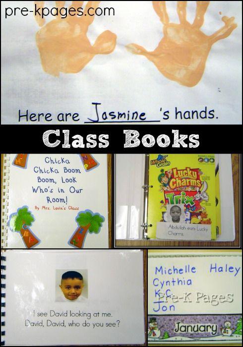 Class Book Ideas for Preschool and Kindergarten