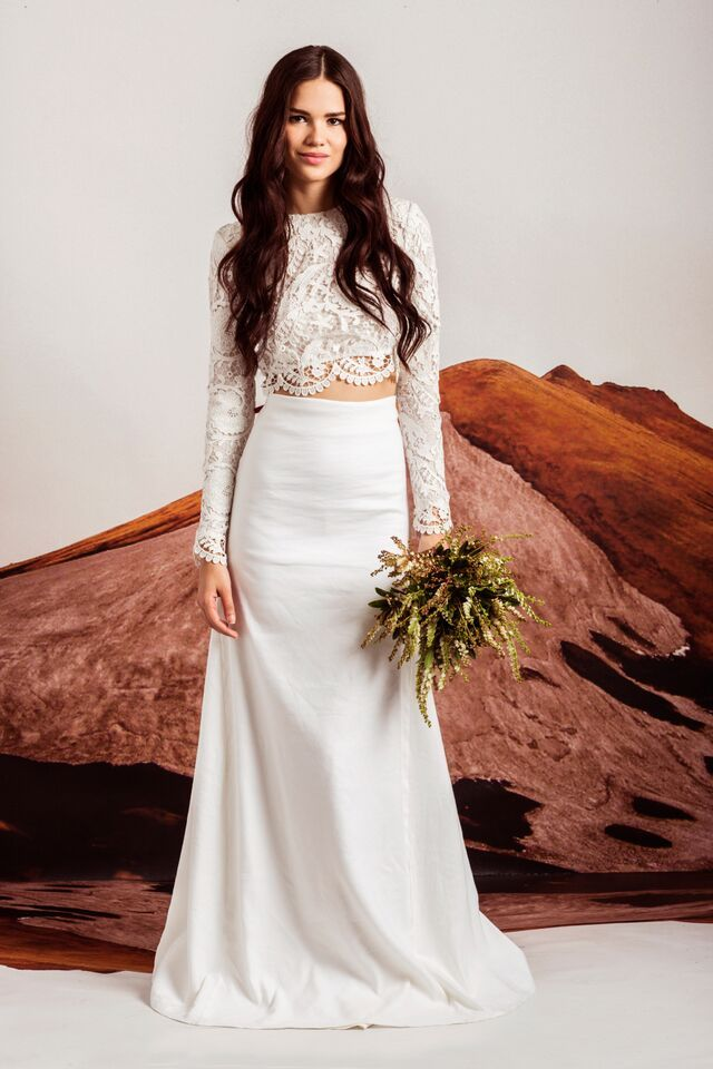 EVERLEIGH skirt and the BRIDAL PUNK CROP // loving the 2-pieces #MumuXWattersX100LC