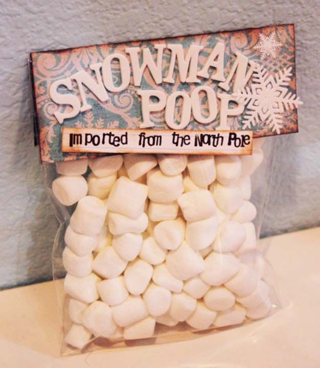 Fun Homemade Gifts for Friends | Cute DIY Stocking Stuffers for Christmas | Easy DIY Crafts Ideas | Snowman Poop diyjoy.com/...