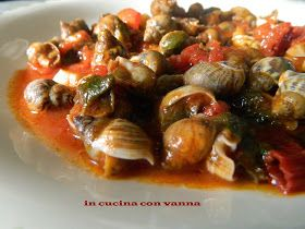 in cucina con vanna: Lumache di mare al sughetto