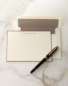 Boatman Geller Correspondence Cards Hand Bordered in Chocolate