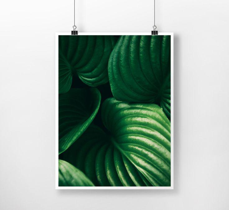 Dark Green Plants Instant Download Digital Print , Abstract, Nature, Wall Decor, Botanical Art, Large Printable Poster, Modern, Minimalist by PrintingDots on Etsy