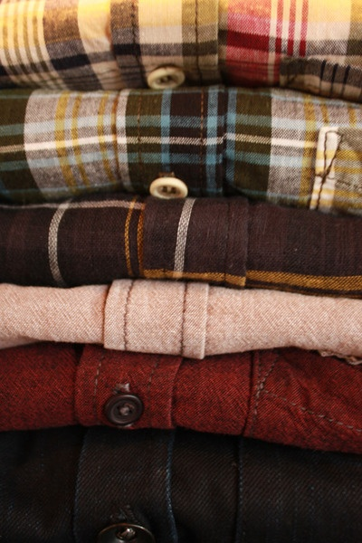Fall is the perfect time of year to mix flannel in to your wardrobe. Wear it under your sweater (untucked of course) or dress it up with a wool knit tie.