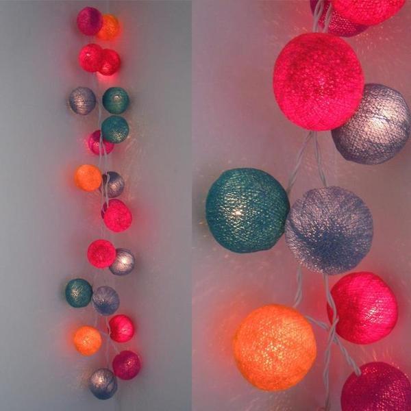 Detalle de Guirnaldas de Luces Colores 2