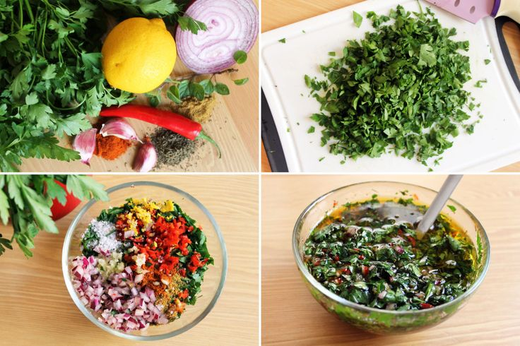 COOKING EXPERIENCES SALSA CHIMICHURRI ARGENTINA CARNE RECETA_ PASO A PASO