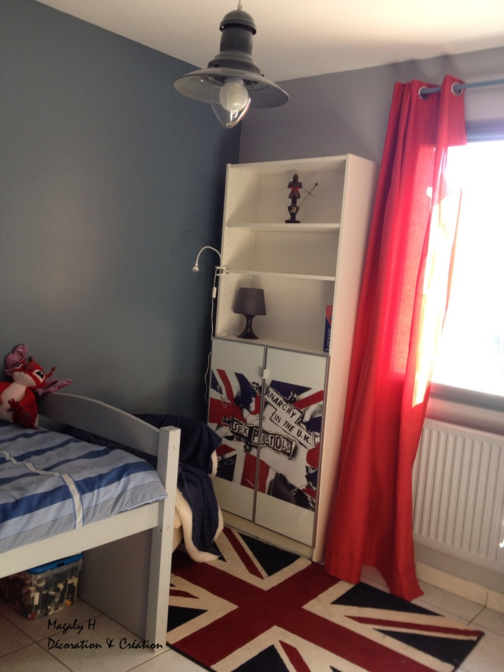 Une chambre d 39 ado aux couleurs de london deco kids pinterest londres - Decoration chambre london ...