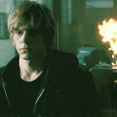 Tate setting his stepfather on fire