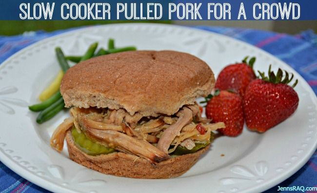 Simple Slow Cooker Pulled Pork for a Crowd with just 5 Ingredients ...