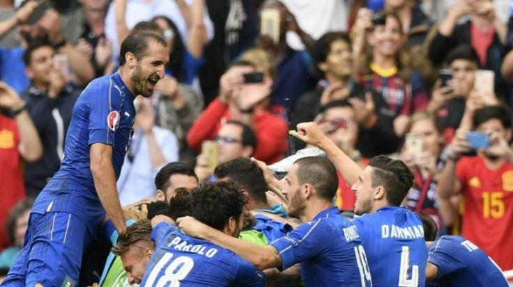 España, vigente campeona, eliminada por Italia en octavos de Eurocopa