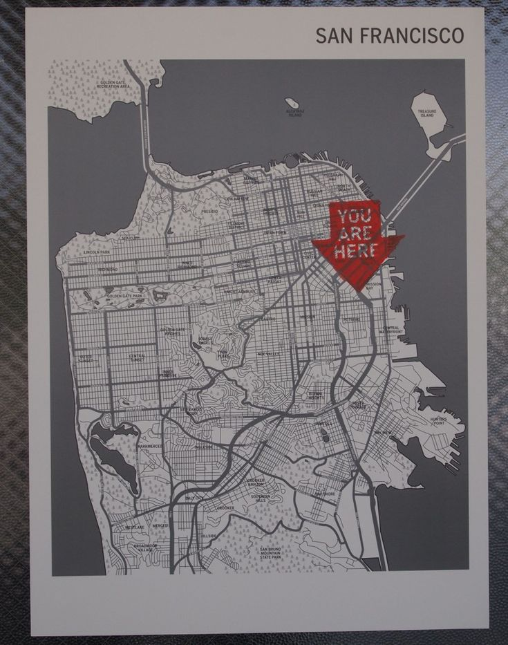 Your Are Here Map San Francisco