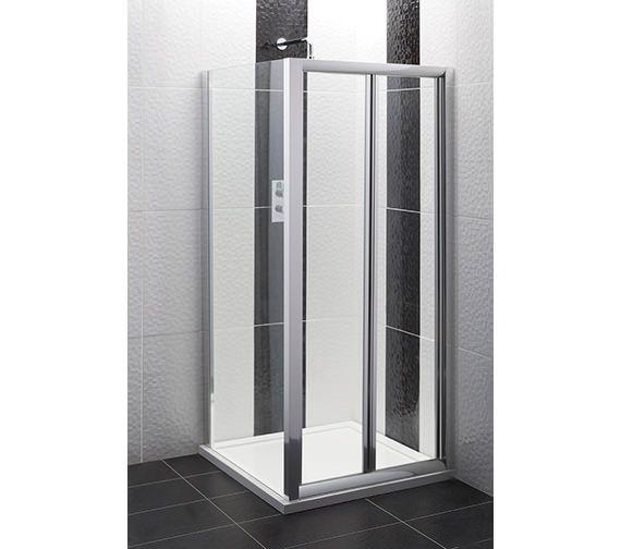 Balterley Framed Bi Fold Shower Door 1000mm Bysefbd10