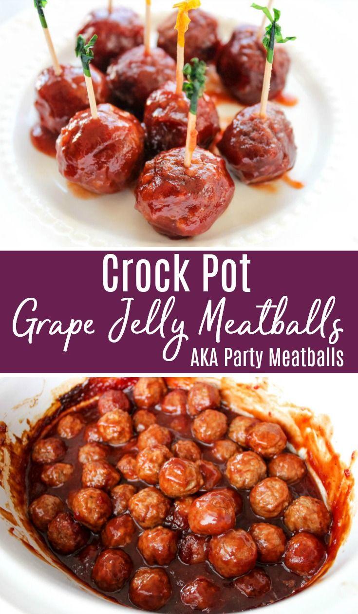 Crock Pot Grape Jelly Meatballs Recipe Aka Slow Cooker