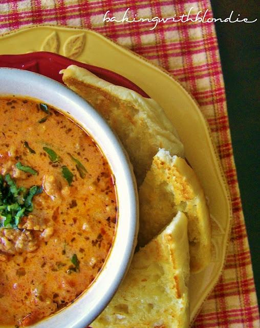 Creamy Tomato Basil Soup with Italian Sausage