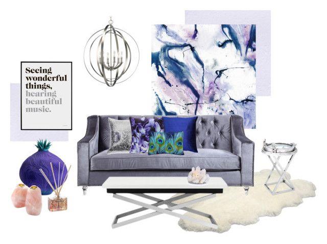 Purple luxury by kelschiao on Polyvore featuring interior, interiors, interior design, home, home decor, interior decorating, Eichholtz, Progress Lighting, UGG Australia and Anna New York