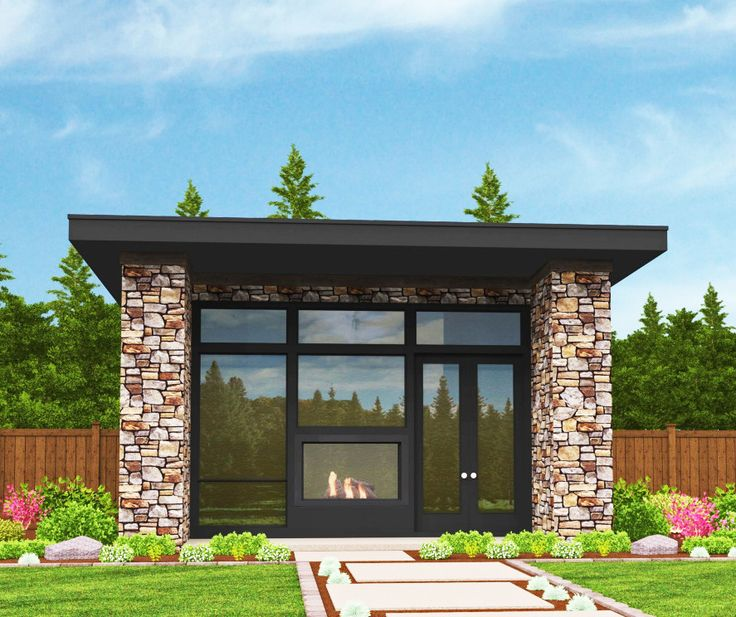 Tiny Modern House Plan with Lanai | Modern tiny house ...