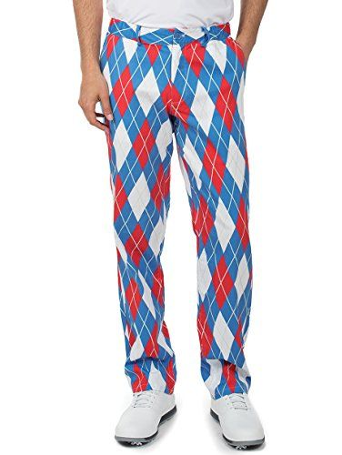 9e16ff292f99 New Tipsy Elves Men s American Flag USA Golf Pants - Patriotic Red White  and Blue Golfing Pants Mens Fashion Clothing.