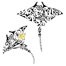 Tatuaggio di Mante in coppia, Unione, bellezza tattoo - TattooTribes.com
