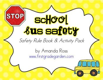 """Perfect for """"Bus Safety Week""""! This activity pack includes: p. 3-12 School Bus Safety Rule Book (colour teacher bersion) p. 13-22 School Bus Safety Rule Book (B&W half page student version with fill in the blanks) p. 23 School Bus Bubble Map p. 24 Label the Bus p. 25 Bus Driver"""