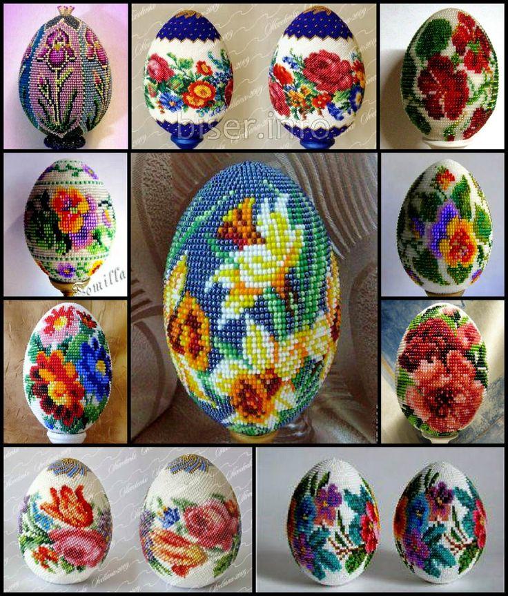 """Υπέροχη καρδιά πράγματα: Beading: """"Πασχαλινά αυγά"""" (αναθεώρηση + καθεστώς)"""