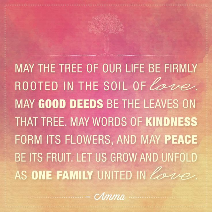 May the tree of our life be firmly rooted in the soil of for Soil our life