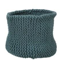 Knitted Basket - Petrol - Large