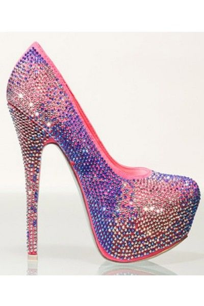 Cotton Candy Diamond Pump - Modern Edge Clothing. So much bling and pink! Love these heels! 20% off with code ALYSSAMOD