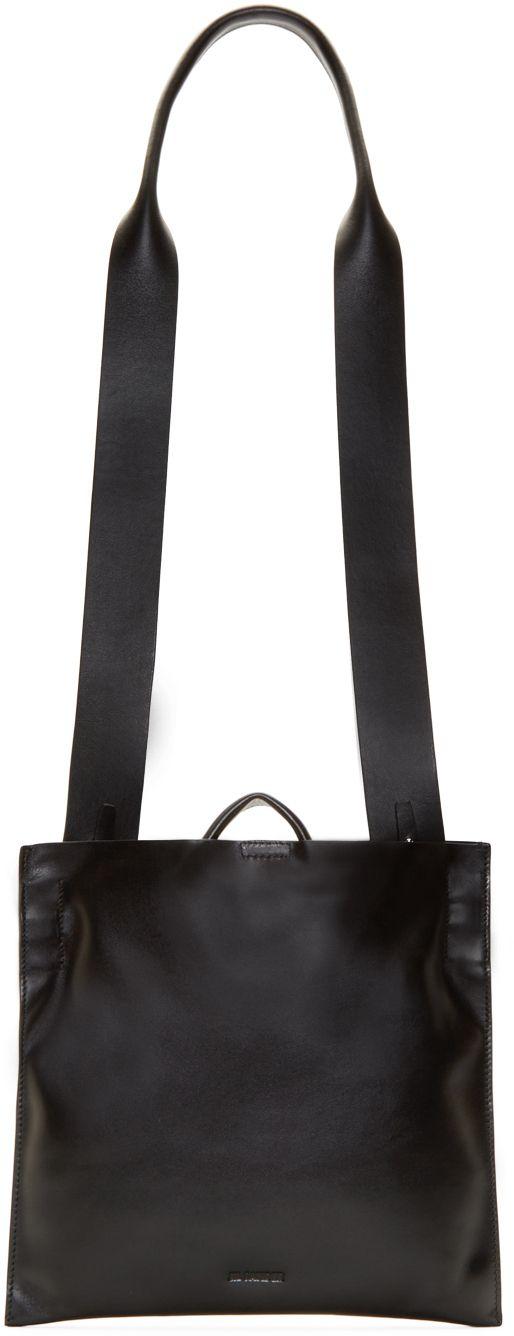 Jil Sander: Black Fur Lined Crossbody Bag | SSENSE