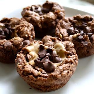 Chocolate Peanut Butter Brownie Bites: Desserts, Fun Recipe, Chocolates Peanut Butter, Brownies Bites, Cups Brownies, Yummy, Peanut Butter Cups, Peanut Butter, Peanut Butter Brownies