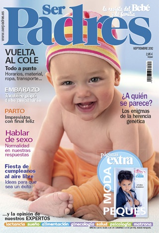 La portada del número de septiembre 2012 de Ser Padres. ¡Preciosa!
