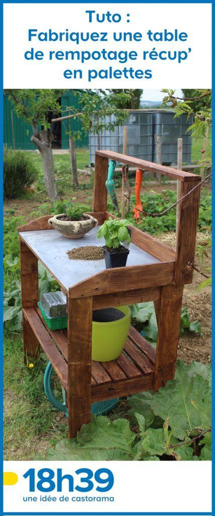 Tuto Fabriquez Une Table De Rempotage Recup En Palettes Avec Images Palette Jardin Meuble Jardin Palette Abri Jardin Palettes