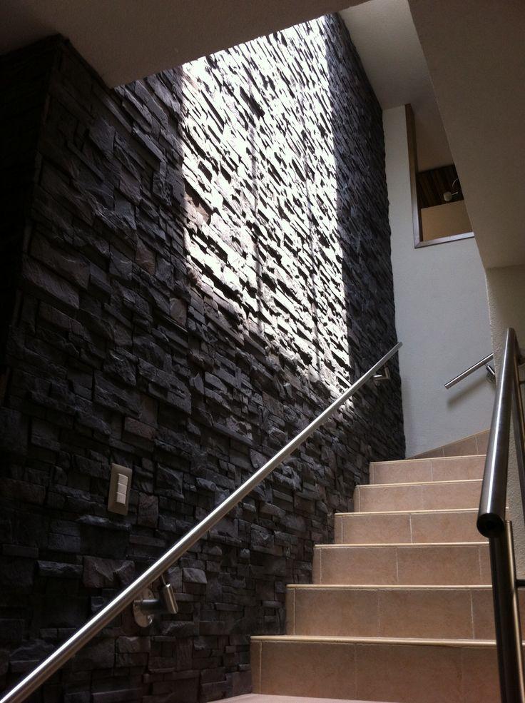 Escalera con fachaleta de concreto aligerado elearq - Escaleras modernas interiores ...