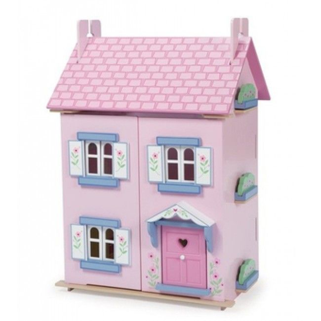 Le Toy Van - Doll House Bella's House & Furniture  #Entropywishlist #pintowin What an absolutely gorgeous house this one is! Rainy days would become a whole lot better if Ava had this to play with!