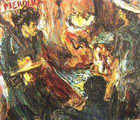 """Laskar rakyat mengatur siasat"" by Affandi, Medium: oil on canvas,  Size: 130cm X 151,5cm, Year: 1946"