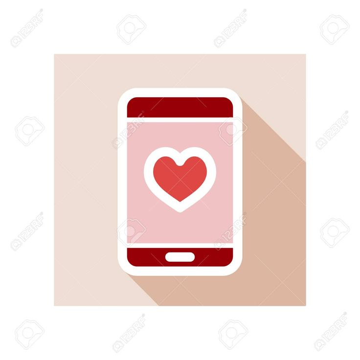 Technology heart smartphone mobile phone romantic telephone call. Valentines day…