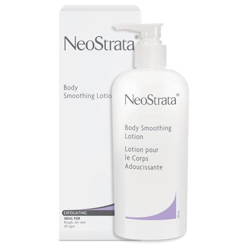 Neostrata Body Smoothing Lotion - This is a medicated lotion for body acne. It kills bacteria and exfoliates, leaving skin soft and clear. Apply everywhere (except for face) twice a day. If you only buy one product on the list, this should be it. Available at Shoppers Drug Mart