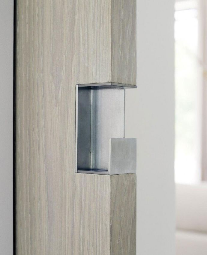 sliding door pull detail