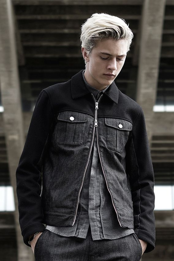 Lucky Blue for Armani Exchange Winter 2014 Capsule Collection