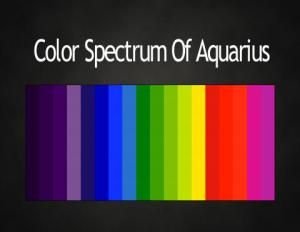 Colors of the Zodiac #astrology color palettes #Aquarius