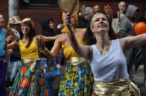 Dancers with Maracatu PDX