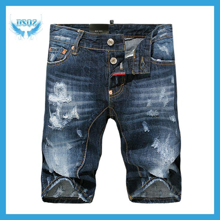 Дешевое Новинка мужчины Высокое качество отдыха летние джинсы короткие современные DSQ бренд дизайнер джинсовые шорты для мужчин D2 бесплатная доставка, Купить Качество Джинсы непосредственно из китайских фирмах-поставщиках:                       Размер (см)                                                Талия