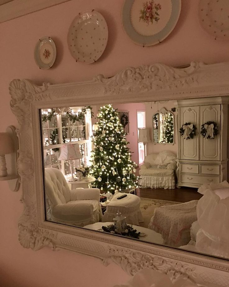 964 best shabby chic christmas images on pinterest merry for Shabby chic christmas