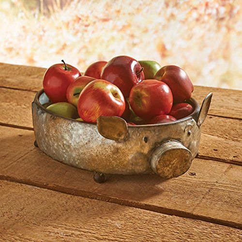 Galvanized Metal Pig Shaped Bowl  Potpourri Fruit Basket Home Decor * You can find out more details at the link of the image. (This is an affiliate link and I receive a commission for the sales)