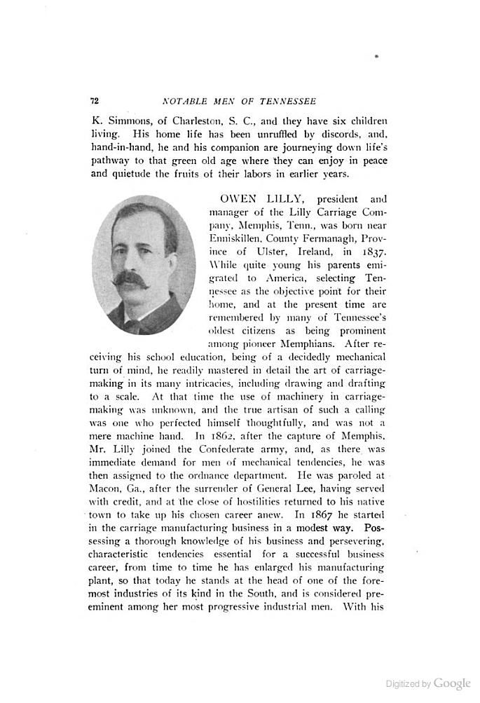 Notable Men of Tennessee Personal and Genealogical, with