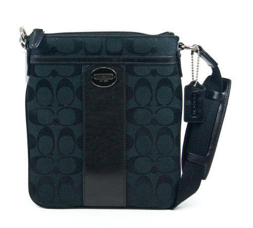 Coach Legacy Black Signature Logo Swingpack Crossbody Handbag Purse New $126.99 #topseller
